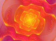 Σπειροειδές fractal υπόβαθρο διανυσματική απεικόνιση