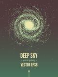 Σπειροειδής αφίσα γαλαξιών Στοκ φωτογραφία με δικαίωμα ελεύθερης χρήσης