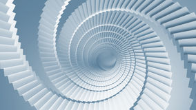 Σπειροειδής μπλε προοπτική σκαλοπατιών Στοκ Φωτογραφίες