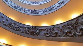 σπειροειδής σκάλα ΒΑΤΙΚΑΝΟ - 19 Φεβρουαρίου 2015: FA απόθεμα βίντεο