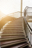 σπειροειδής σκάλα ξύλιν&eta Κυκλική σκάλα Στοκ φωτογραφία με δικαίωμα ελεύθερης χρήσης