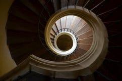 Σπειροειδής σκάλα στην εκκλησία - άποψη από επάνω Στοκ Φωτογραφίες