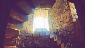 Σπειροειδής σκάλα στο φρούριο Στοκ εικόνες με δικαίωμα ελεύθερης χρήσης