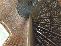 Σπειροειδής σκάλα φάρων σημείου Pemaquid Στοκ Εικόνα