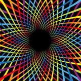 Σπειροειδής ταχύτητα λουλουδιών χρώματος ουράνιων τόξων Ζωηρόχρωμο στροβίλου σύνολο γραμμών μετακίνησης φωτεινό Καμμένος πρότυπο  διανυσματική απεικόνιση