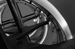 Σπειροειδής χάλυβας σκαλοπατιών Στοκ Φωτογραφίες