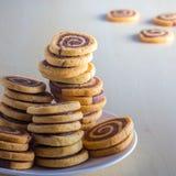 σπειροειδή μπισκότα Στοκ φωτογραφίες με δικαίωμα ελεύθερης χρήσης