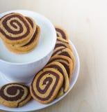 σπειροειδή μπισκότα Στοκ Εικόνες