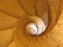 σπειροειδή σκαλοπάτια Στοκ εικόνα με δικαίωμα ελεύθερης χρήσης