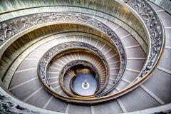 Σπειροειδή σκαλοπάτια σε Βατικανό Στοκ Φωτογραφίες