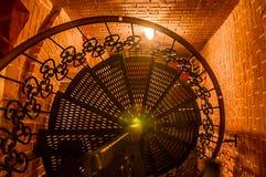 Σπειροειδή σκαλοπάτια σιδήρου Στοκ Φωτογραφία