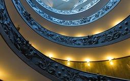 Σπειροειδή σκαλοπάτια των μουσείων Βατικάνου σε Βατικανό, Ρώμη Στοκ Εικόνες