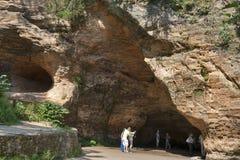 Σπηλιά Gutmanis, Λετονία. Στοκ εικόνα με δικαίωμα ελεύθερης χρήσης