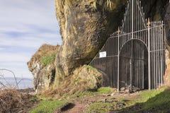 Σπηλιά βασιλιάδων σε Machrie στο νησί Arran στη Σκωτία Στοκ Εικόνες