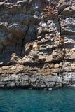 Σπηλιά θάλασσας στην αδριατική θάλασσα, Μαυροβούνιο Στοκ εικόνα με δικαίωμα ελεύθερης χρήσης