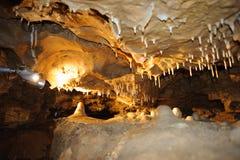 Σπηλιά κρυστάλλου οριζόντια Στοκ Εικόνες