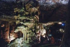 Σπηλιά σταλακτιτών, Ισραήλ Στοκ Εικόνες