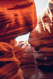 Σπηλιά του χαμηλότερου φαραγγιού της αντιλόπης Αριζόνα, Ηνωμένες Πολιτείες Στοκ εικόνα με δικαίωμα ελεύθερης χρήσης