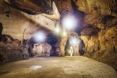 Σπηλιά του χεριού Buddha's της σπηλιάς νεράιδων Xiangdong στην περιοχή Zhongshan, Keelung, Ταϊβάν Στοκ Εικόνες