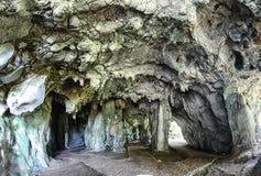 Σπηλιά του Wat Thep Charoen κοντά σε Chumphon, Ταϊλάνδη Στοκ Εικόνες