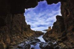Σπηλιά 02 Kiama θάλασσας Hor Στοκ Φωτογραφία