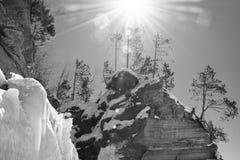 Σπηλιές πάγου του Ουισκόνσιν - ανώτερος λιμνών Στοκ Φωτογραφία