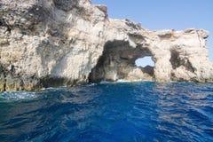 Σπηλιές Comino Στοκ Εικόνα