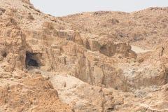 Σπηλιές Qumran Στοκ εικόνα με δικαίωμα ελεύθερης χρήσης