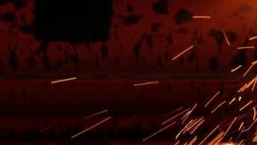 Σπινθήρας σιδήρου απόθεμα βίντεο