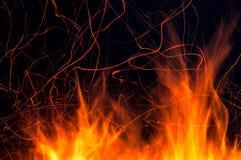 Σπινθήρας φλογών πυρκαγιάς Στοκ εικόνες με δικαίωμα ελεύθερης χρήσης