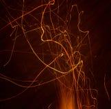 σπινθήρες πυρκαγιάς Στοκ φωτογραφίες με δικαίωμα ελεύθερης χρήσης