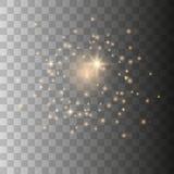 Σπινθήρες σκόνης αστεριών ελεύθερη απεικόνιση δικαιώματος