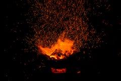 Σπινθήρες της φωτιάς Στοκ εικόνα με δικαίωμα ελεύθερης χρήσης
