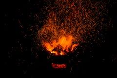 Σπινθήρες της φωτιάς Στοκ εικόνες με δικαίωμα ελεύθερης χρήσης