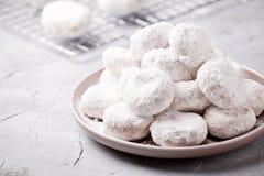 Σπιτικά ελληνικά μπισκότα Χριστουγέννων στοκ εικόνα
