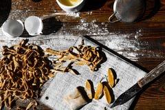 Σπιτικά ιταλικά ζυμαρικά Στοκ Εικόνα