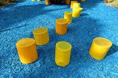 Σπιτικά κίτρινα σκαμνιά Στοκ Φωτογραφίες
