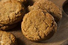Σπιτικά καφετιά μπισκότα Gingersnap Στοκ εικόνα με δικαίωμα ελεύθερης χρήσης