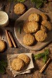 Σπιτικά καφετιά μπισκότα Gingersnap Στοκ φωτογραφία με δικαίωμα ελεύθερης χρήσης