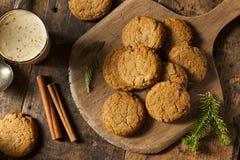 Σπιτικά καφετιά μπισκότα Gingersnap Στοκ Εικόνα