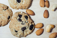 Σπιτικά μπισκότα αμυγδάλων Στοκ φωτογραφία με δικαίωμα ελεύθερης χρήσης
