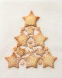 Σπιτικά μπισκότα αστεριών Στοκ Φωτογραφίες