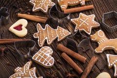 Σπιτικά μπισκότα μελοψωμάτων Χριστουγέννων Στοκ φωτογραφία με δικαίωμα ελεύθερης χρήσης