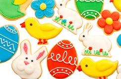 Σπιτικά μπισκότα μελοψωμάτων Πάσχας Στοκ Εικόνες