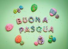 Σπιτικά μπισκότα μελοψωμάτων Πάσχας Στοκ φωτογραφίες με δικαίωμα ελεύθερης χρήσης