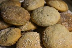 Σπιτικά μπισκότα με τη ζάχαρη, την κανέλα και το σουσάμι Στοκ Φωτογραφίες