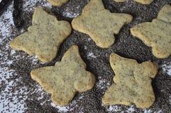 Σπιτικά μπισκότα παπαρουνών Στοκ Εικόνες