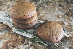 Σπιτικά μπισκότα σοκολάτας για το πρόχειρο φαγητό Μπισκότα τσιπ σοκολάτας που πυροβολούνται στο κεραμικό βάζο Στοκ εικόνες με δικαίωμα ελεύθερης χρήσης