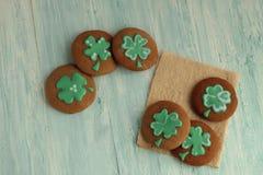 Σπιτικά μπισκότα του ST Πάτρικ Day στοκ εικόνα