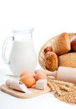 σπιτικά συστατικά ψωμιού στοκ εικόνες